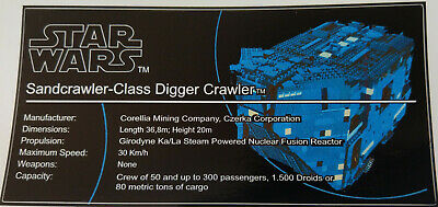 Star Wars Sticker for Lego® 10019 with plate UCS precut Replacement custom