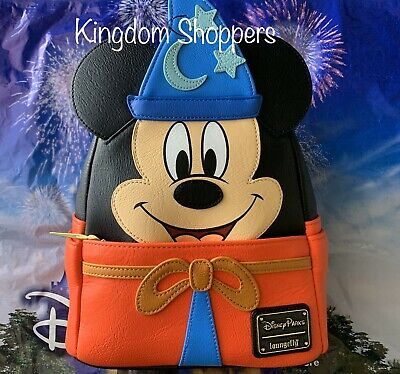 2020 Disney Parks Sorcerer Mickey Fantasia Loungefly Mini Backpack Ink & Paint