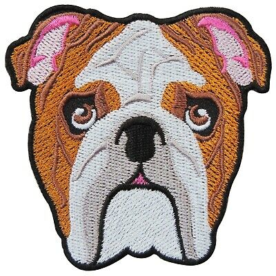 Pit Bull Terrier Angry American Bully French Bulldog Dog Iron-On Patches #A126