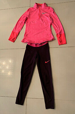 Girls NIKE SPORTS TOP AND LEGGINGS, Aged 10-12years