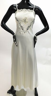 Vintage 1970s Bias cut lace gown by Christian Dior