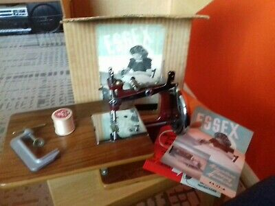 Vintage Original Boxed Essex Engineering Miniture Sewing Machine Retro 1950s