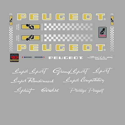N.752 Peugeot PX10//PY10 Cadre Stickers decals