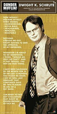 The Office Dwight Shrute Corporate Ladder (Dunder Mifflin) Poster Print 12 by 24