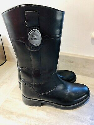 Black Genuine Leather Girls School Boots Marks & Spencer's Size 3 New