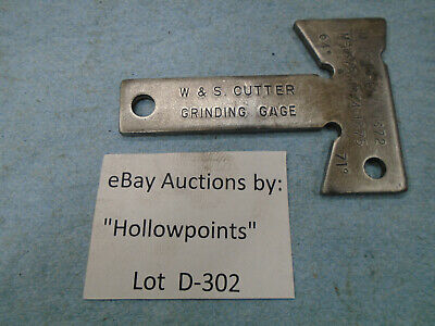 D302 W/S Warner & Swasey Machinist Cutter Grinding Gage Gauge 64 & 71 Degrees