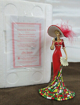 Hamilton Collection Red Hat Lady Coca-Cola Figurine Timelessly Refreshing - Euc