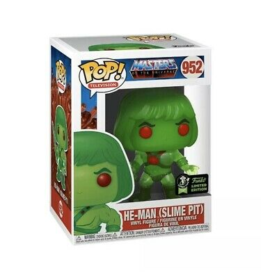 2020 Funko Pop ECCC OFFICIAL CON STICKER He-Man Slime pit MOTU +Protector
