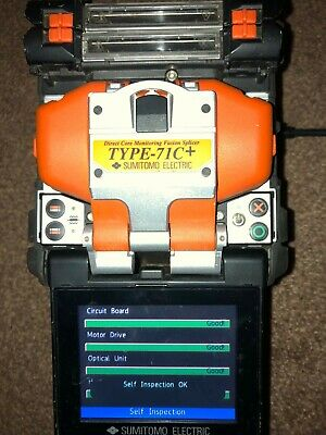 Sumitomo type 71C+ Fusion splicer with sumitomo cleaver, 6800 arc count