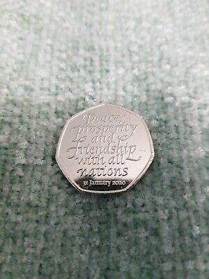 BREXIT 1X  UNCIRCULATED BREXIT 50P COIN FROM A  POST OFFICE SEALED BAG free post