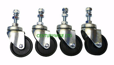 """4 x WHIRLAWAY 60mm CASTORS  for 18"""", 20"""", 22"""", & 24"""" rotary cleaners.Wheel,patio"""