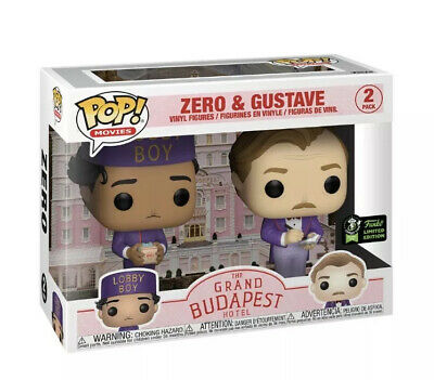 2020 Funko Pop ECCC OFFICIAL STICKER Grand Budapest Hotel Zero Gustave 2 Pack