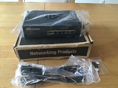 BV-Tech 5 Port Gigabit Ethernet Switch With 4 Port PoE NEW NIB POE-SW501G