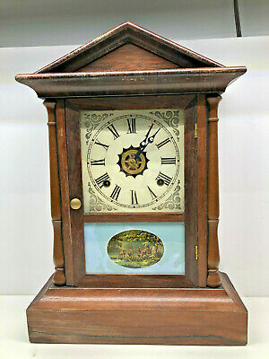 Antique Mantle Chiming Clock - Works With Key