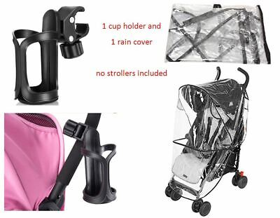 Rain Wind Cover Shield Cup Holder Bottle Coffee Silver Cross Baby Child Stroller