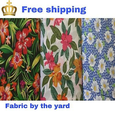 Flowers Sunshine Springs 2020  Cotton Fabric By The Yard
