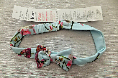 Ted Baker Stunning Baby Girl Cotton Big Bow Head Band New With Tags 12-18 months