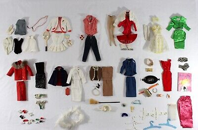 Vintage BARBIE CLOTHING COLLECTION from 1961-1964. Sets + Accessories. 92 PIECES