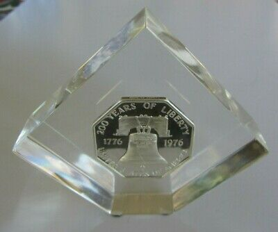 Very Rare 1973 Ron Hyer Lombardo Mint Liberty Bell .999 Fine Silver Paperweight
