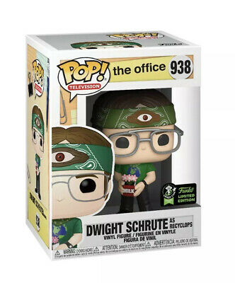 Funko Pop ECCC OFFICIAL CON STICKER The Office Dwight Schrute Recyclops PREORDER