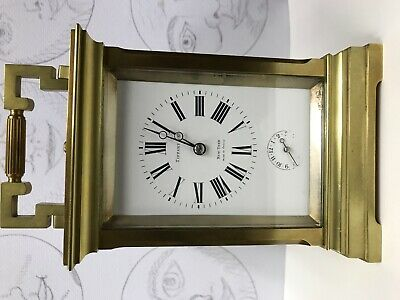 French Tiffany carriage clock