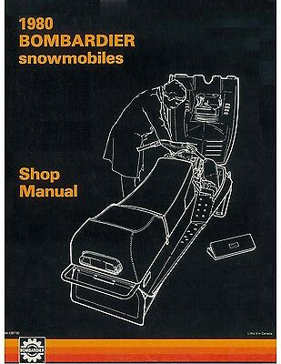 Bombardier snowmobile shop manual 1980 Blizzard 5500 - Grand Prix Special