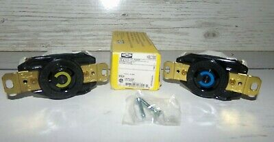 Hubbell HBL2320 L6-20R 2 Pole 3 Wire Twist Lock Receptacle 20A 250V + 125V