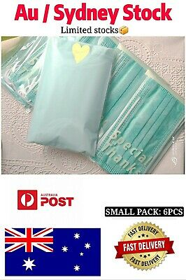 Surgical Face Mask 3-Ply Disposable - 6 psc(green)- Medical/Flu/Dust/Allergy