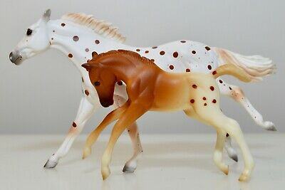 Breyer Model Horse Stablemate 59975 Thoroughbred Appaloosa Mare & Foal 2000-02