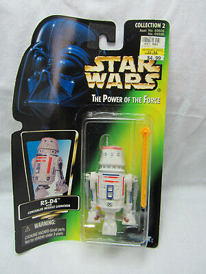 NEW 1996 Star Wars Power of the Force R5-D4 w//Concealed Missile Launcher Foil