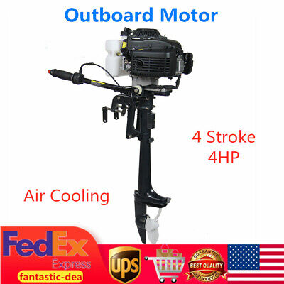 4HP 4 Stroke Heavy Duty Outboard Motor Boat Engine 52CC w/ Air Cooling System US