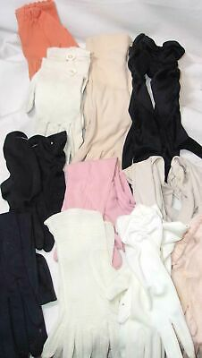 Vintage Lady's Evening Glove Lot - Black, White, Colors, Long And Short