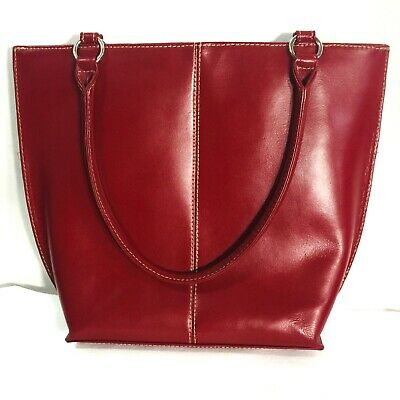Wilson Leather Maroon Burgundy Wine Red small tote shoulder bag purse