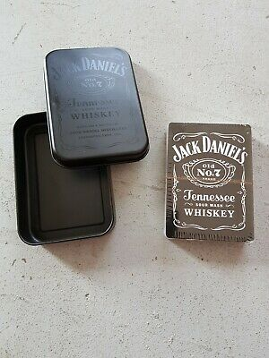 JD Jack Daniels Whiskey No 7 Playing Cards in Collectors Tin Trivia on Each Card
