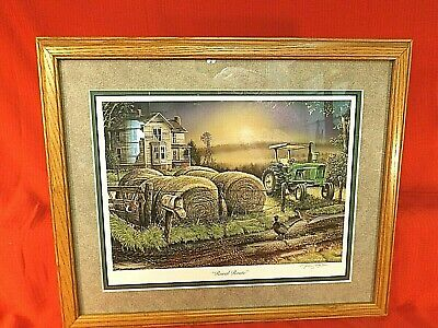 JOHN DEERE 4020 TRACTOR PRINT - RURAL ROUTE by TERRY HOYT - DBL MATTED - FRAMED