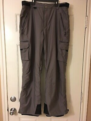B360 B-Three Sixty Ski/Snowboard Pants Insulated Gray Men's Size Large Free ship