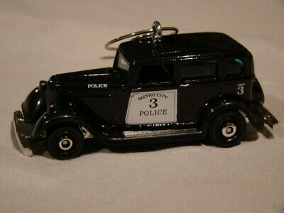 1933 Plymouth Sedan Police Cop Car Custom Christmas tree ornament w/ Hanger~ '33