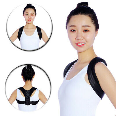 New Posture Corrector Adjustable Medical Clavicle Back Support Brace Body Relief