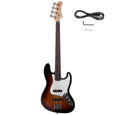 Practice Student Band GJazz Electric 4 Strings Bass+Pick Tool Amp Wire