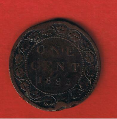 Canada 1893  penny   circulated   Free S/H