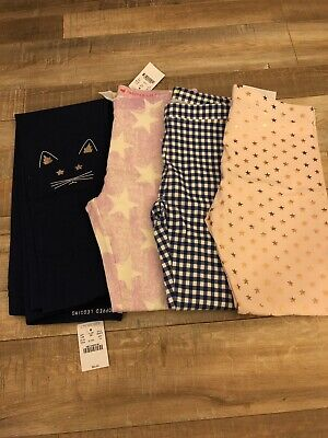 j crew crewcuts Girls Cropped Leggings Lot Of 4 Size 14 New