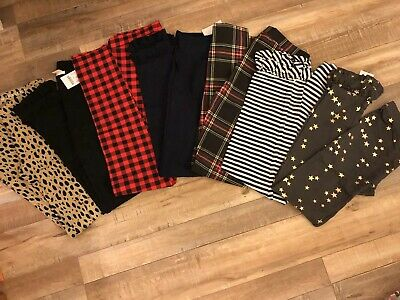 j crew crewcuts Girls Full Length Leggings Lot Of 7 Size 14 New