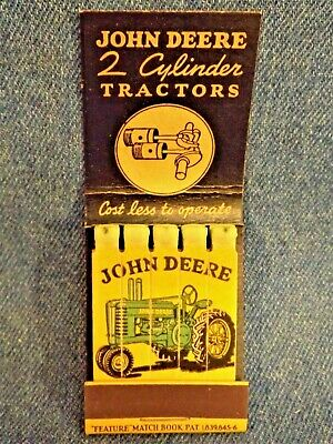 JOHN DEERE RARE MATCHBOOK - MATCHES PRINTED with TRACTOR - 1936 - INDIANA