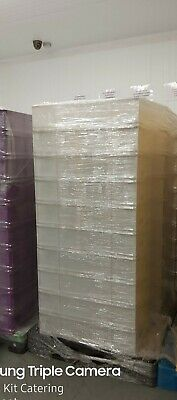 20 WHITE STACKING BAKERY CONFECTIONARY TRAYS 465 X 765 x 170