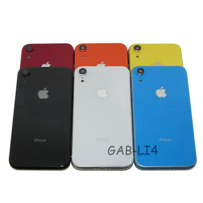 For Apple iPhone XR Housing Back Glass Chassis Frame Battery Door Cover +Buttons