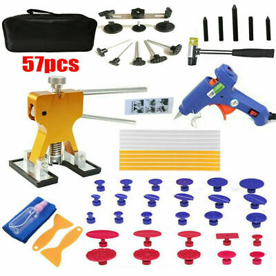 57x AU PDR Paintless Dent Puller Lifter Hail Removal Tools Car Body Kit Glue Gun