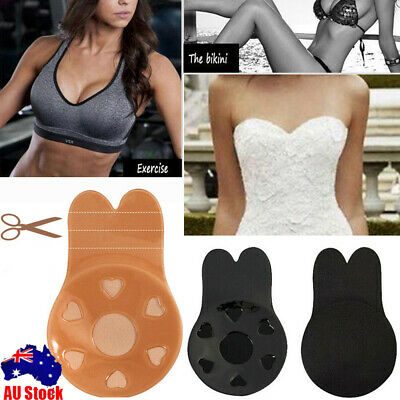 Women Cup Bra Thin Invisible Silicone Breast Pads Boob Lift Tape Nipple Cover TZ