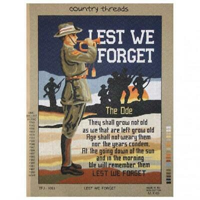 Country Threads Tapestry Printed Lest We Forget