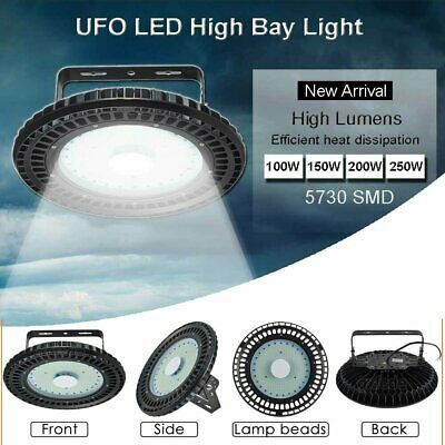 Slim UFO LED High Bay Lights Lamp 50-500W Industrial Shed Factory Warehouse Lamp