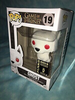 Funko POP Flocked Ghost Game Of Thrones SDCC 2014 #19 Comic Con Vinyl Wolf Pop!
